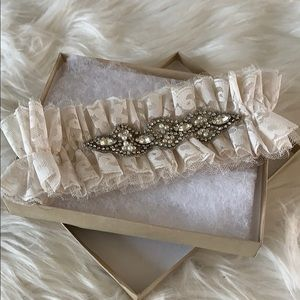 Womens Sexy Wedding Garter Bride Party Bling Jewel